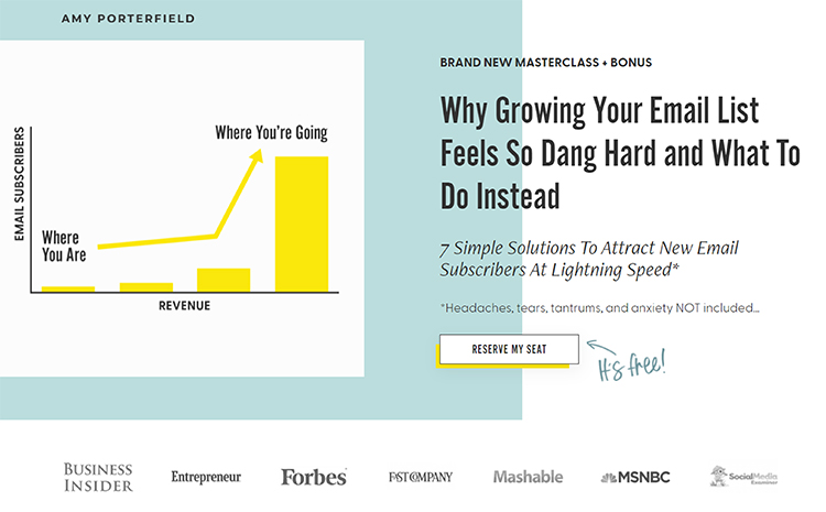 The Best Prospecting Idea We've Ever Had: Sales Funnels, first page of a sales funnel example.