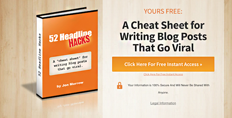 Lead Generation Strategy & Examples, SmartBlogger Lead Magnet.