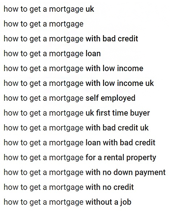 Lead Gen Strategy #2 Share Mortgage Advice on YouTube, search engine result, example.