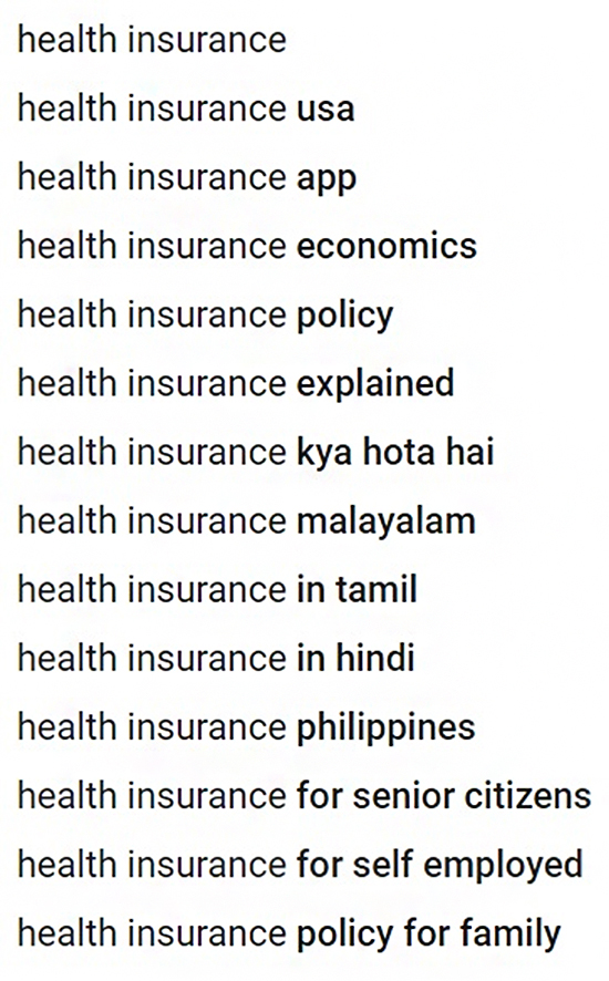 Educate People About Insurance on YouTube, insurance keyword example.